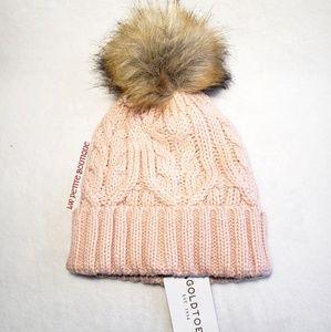 Gold Toe Knit Pom Hat
